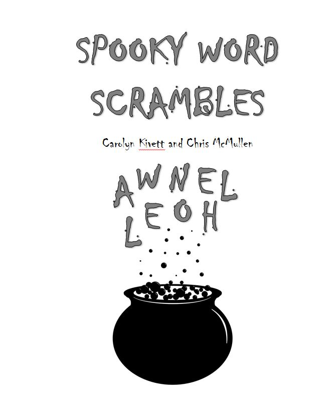 Halloween Scrambles Title Page