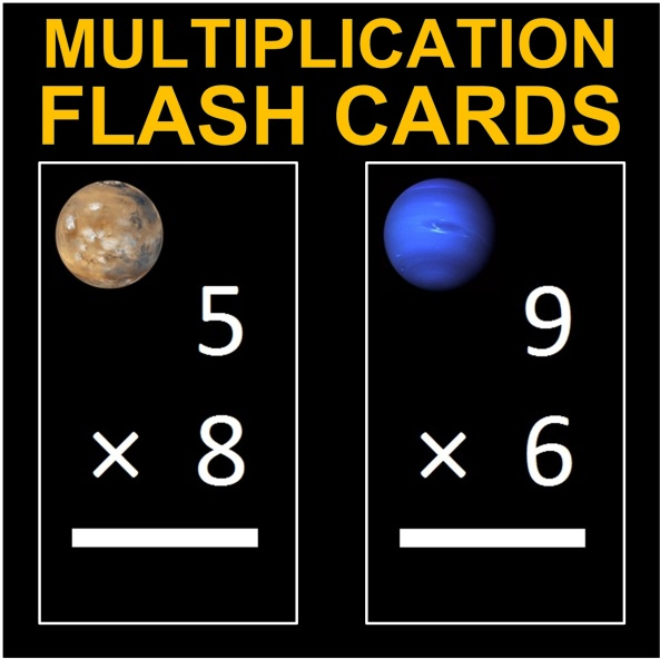 Planet Flash Cards Multiplication Cover Thumbnail