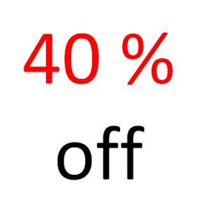 40 off