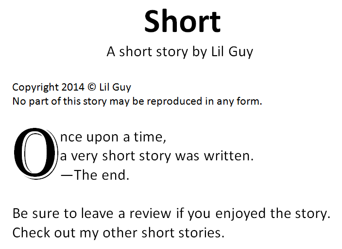 writing your first short story