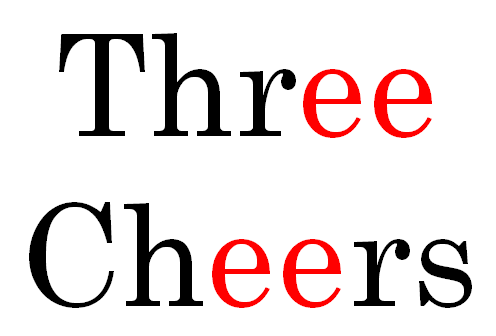 Three Cheers