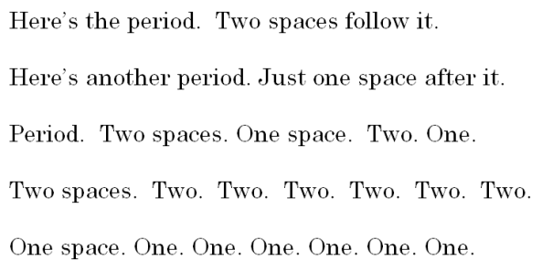 One Space or Two