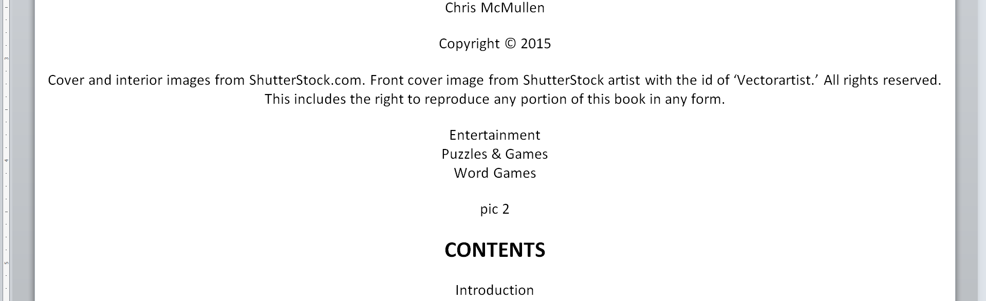 Kindle formatting chrismcmullen ebook word fandeluxe Images