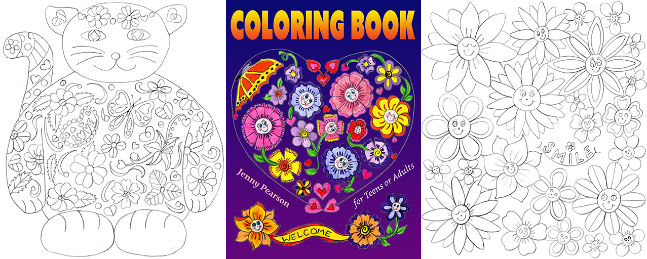 All About Adult Coloring Books For Customers Stress Relief And Authors How To Publish Image Used With Permission From Artist Jenny Pearson