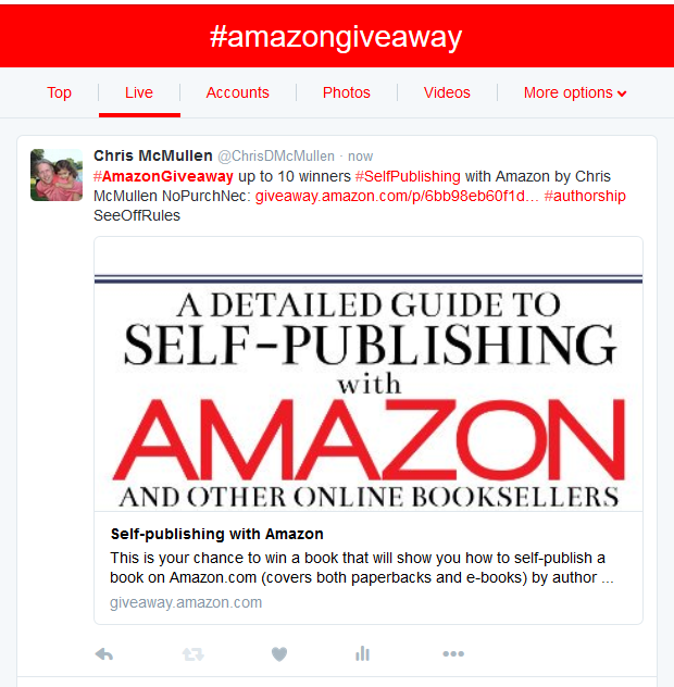 how to offer e-book giveaway on amazon
